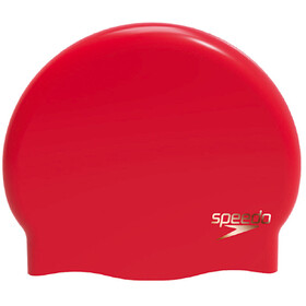 speedo Plain Moulded Silicone Cap Women Lava Red